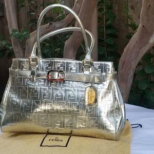 Lovely Rare Fendi Selleria FF embossed handbag